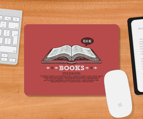 Mousepads, Books Red Mousepad | By Captain Kyso, - PosterGully