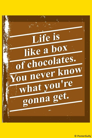 Wall Art, Box of Chocolates Forrest Gump, - PosterGully