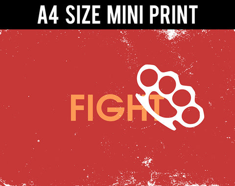 Mini Prints, Brass Knuckle | Fight Club | Mini Print, - PosterGully