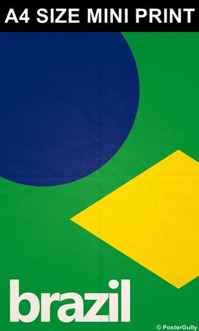 Mini Prints, Brazil Soccer Team #footballfan | Mini Print, - PosterGully