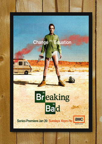 Glass Framed Posters, Breaking Bad Change The Equation Glass Framed Poster, - PosterGully - 1