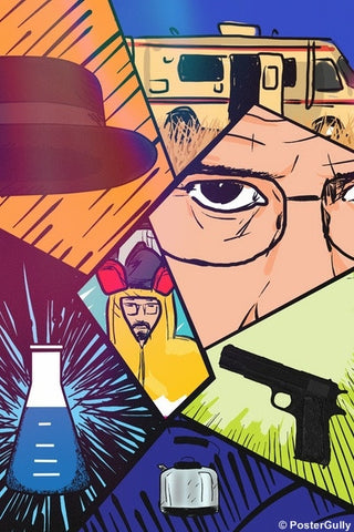 Wall Art, Breaking Bad Collage, - PosterGully