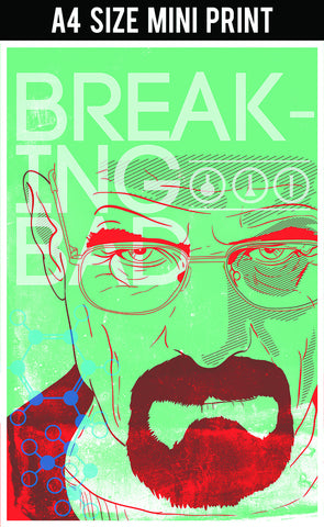 Mini Prints, Breaking Bad | Green Art | Mini Print, - PosterGully