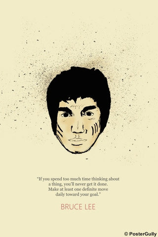 PosterGully Specials, Bruce Lee | Goal |  Poster, - PosterGully