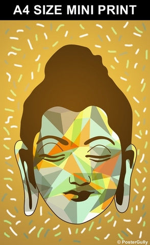 Mini Prints, Buddha | Brown Artwork | Mini Print, - PosterGully