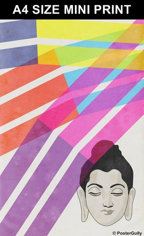 Mini Prints, Buddha Color Rays | Mini Print, - PosterGully