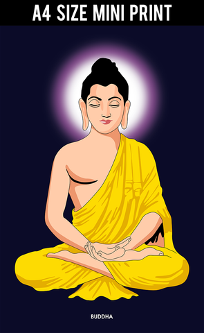Mini Prints, Buddha Halo | Mini Print, - PosterGully