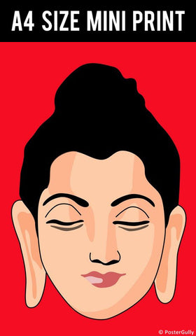 Mini Prints, Buddha Tee  | Mini Print, - PosterGully