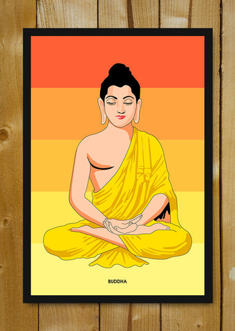 Glass Framed Posters, Buddha Trance Glass Framed Poster, - PosterGully - 1