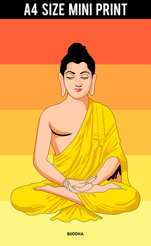 Mini Prints, Buddha Trance | Mini Print, - PosterGully