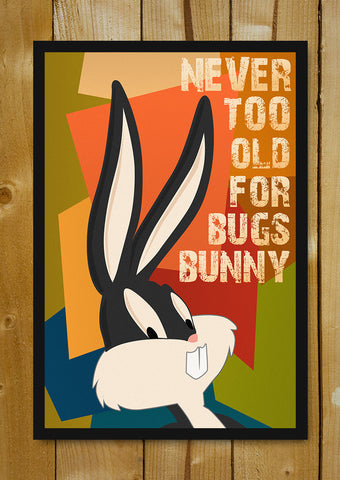 Glass Framed Posters, Bugs Bunny Glass Framed Poster, - PosterGully - 1