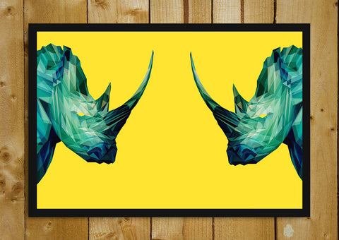 Glass Framed Posters, Bullhorn Artwork Glass Framed Poster, - PosterGully - 1