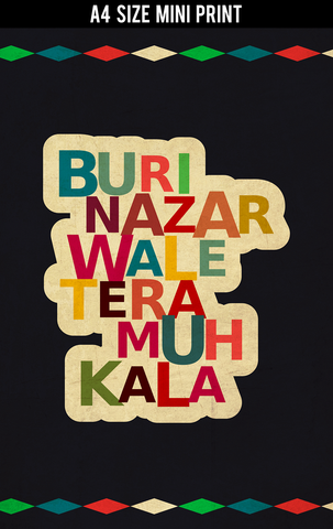 Mini Prints, Buri Nazar Wale | Mini Print, - PosterGully