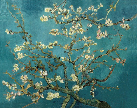 Canvas Art Prints, Blossoming Almond Tree by Vincent Van Gogh Stretched Canvas Print, - PosterGully