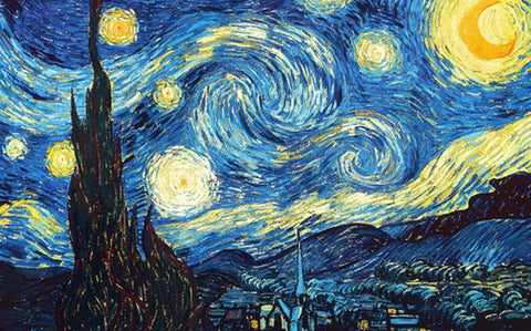 Canvas Art Prints, The Starry Night by Vincent Van Gogh Stretched Canvas Print, - PosterGully