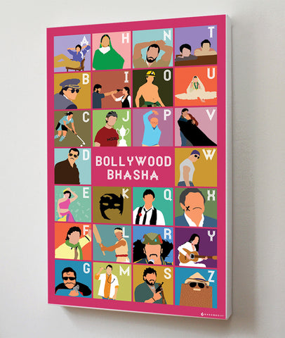 Canvas Art Prints, Bollywood Bhaasha Stretched Canvas Print, - PosterGully - 1