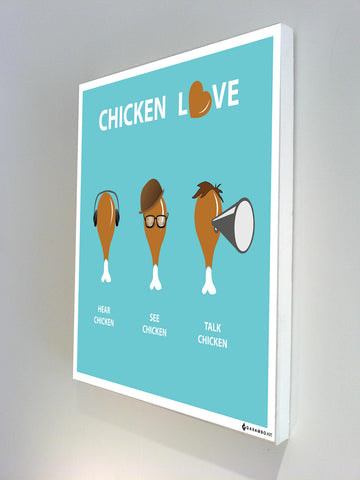 Canvas Art Prints, Chicken Love Stretched Canvas Print, - PosterGully - 1