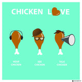 Canvas Art Prints, Chicken Love Stretched Canvas Print, - PosterGully - 3