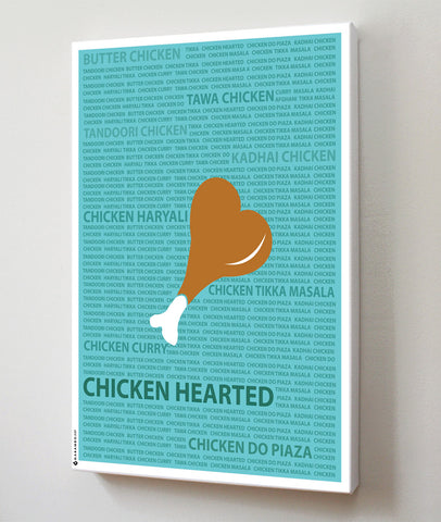 Canvas Art Prints, Chicken Hearted Stretched Canvas Print, - PosterGully - 1
