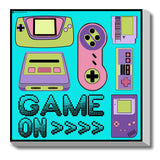 Canvas Art Prints, 90's Game on Stretched Canvas Print, - PosterGully - 1