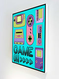 Canvas Art Prints, 90's Game on Stretched Canvas Print, - PosterGully - 3