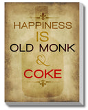 Canvas Art Prints, Happiness - Old Monk Stretched Canvas Print, - PosterGully - 1