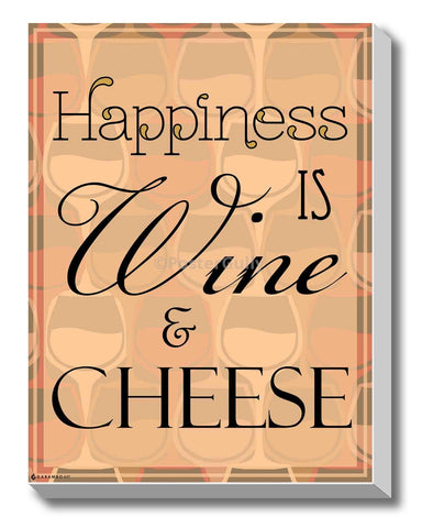 Canvas Art Prints, Happiness - Wine Stretched Canvas Print, - PosterGully - 1