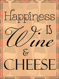 Canvas Art Prints, Happiness - Wine Stretched Canvas Print, - PosterGully - 4