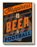 Canvas Art Prints, Happiness - Beer Stretched Canvas Print, - PosterGully - 1