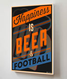 Canvas Art Prints, Happiness - Beer Stretched Canvas Print, - PosterGully - 3