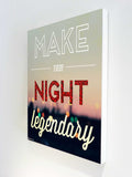 Canvas Art Prints, Every Night Legendary Stretched Canvas Print, - PosterGully - 3