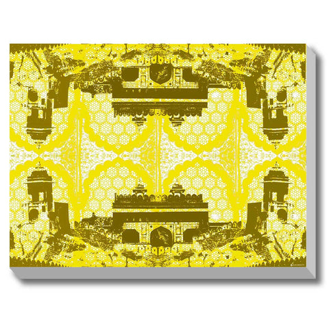 Canvas Art Prints, Jaipur Reflections Stretched Canvas Print, - PosterGully - 1