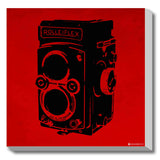 Canvas Art Prints, Vintage Camera - Red Stretched Canvas Print, - PosterGully - 1