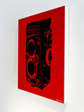 Canvas Art Prints, Vintage Camera - Red Stretched Canvas Print, - PosterGully - 5