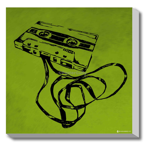 Canvas Art Prints, Cassette - Pop Art Stretched Canvas Print, - PosterGully - 1