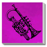 Canvas Art Prints, Saxophone - Pop Art Stretched Canvas Print, - PosterGully - 1
