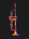 Canvas Art Prints, Trumpet - Pop Art Stretched Canvas Print, - PosterGully - 4