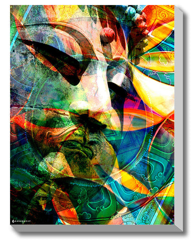 Canvas Art Prints, Buddha Peace Stretched Canvas Print, - PosterGully - 1