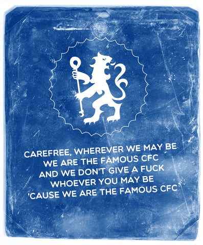 PosterGully Specials, The Famous Chelsea F.C | Minimal Art, - PosterGully