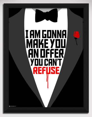 Canvas Art Prints, Godfather Framed Canvas Print, - PosterGully - 1