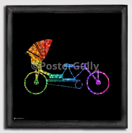 Canvas Art Prints, Indian Rikshaw Framed Canvas Print, - PosterGully - 1