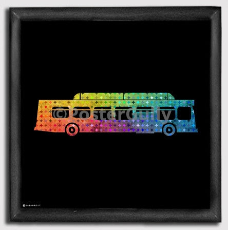 Canvas Art Prints, Indian Bus Framed Canvas Print, - PosterGully - 1