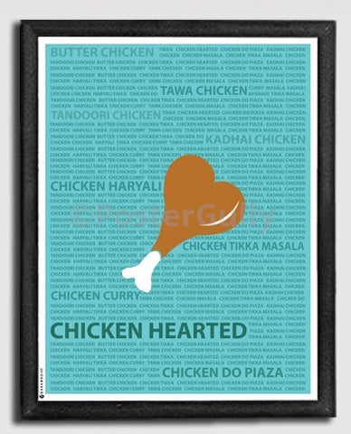 Canvas Art Prints, Chicken Hearted Framed Canvas Print, - PosterGully - 1