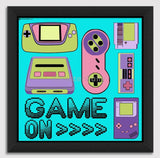 Canvas Art Prints, 90's Game on Framed Canvas Print, - PosterGully - 1