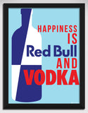 Canvas Art Prints, Happiness - Vodka Framed Canvas Print, - PosterGully - 1