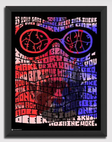 Canvas Art Prints, Matrix - Red Pill/Blue Pill Framed Canvas Print, - PosterGully - 1