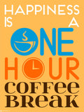Canvas Art Prints, Work Happiness - One hour cofee Break Framed Canvas Print, - PosterGully - 3