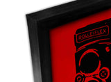 Canvas Art Prints, Vintage Camera - Red Framed Canvas Print, - PosterGully - 2