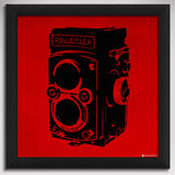 Canvas Art Prints, Vintage Camera - Red Framed Canvas Print, - PosterGully - 1