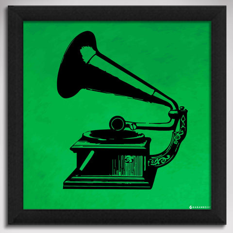 Canvas Art Prints, Gramophone - Pop Art Framed Canvas Print, - PosterGully - 1
